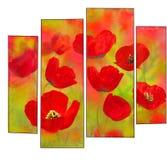 Poppies modular stock photos