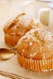 Маковые семенена и булочки лимона Стоковая Фотография