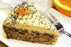 маковые семенена померанца торта стоковое изображение rf