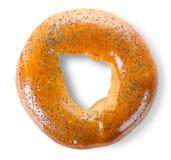 маковые семенена bagel Стоковые Фото