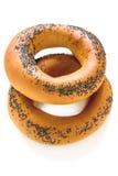 маковые семенена 2 bagels Стоковое фото RF