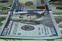 100 макросов деноминации доллара стоковые изображения