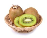 макросы кивиа плодоовощ предпосылки разделяют улучшать белизну серии изображения Стоковая Фотография RF