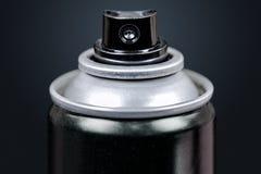 Макрос баллончика, изолированный на черноте Стоковое Изображение