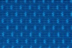 Макрос близкий вверх голубой предпосылки материала текстуры ткани Стоковые Изображения