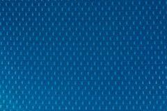 Макрос близкий вверх голубой предпосылки материала текстуры ткани Стоковая Фотография RF