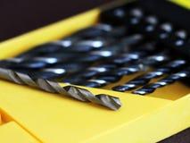 Макрос буровых наконечников, домашний инструмент ремонта Стоковая Фотография RF