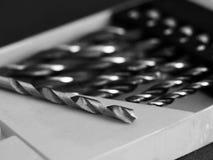 Макрос буровых наконечников, домашний инструмент ремонта Стоковая Фотография