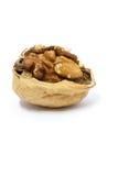 Макрос грецкого ореха половинного Стоковая Фотография RF