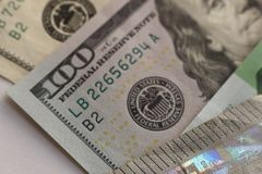 Макрос денег США Номер и portret стоковые изображения rf