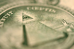 макрос доллара детали счета Стоковая Фотография