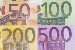 макрос евро детали счета Стоковое Фото