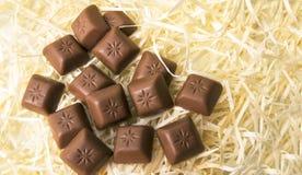 макрос десерта шоколада соединяет помадку Прерванный молочный шоколад Стоковая Фотография RF