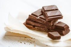 макрос десерта шоколада соединяет помадку Стоковые Фотографии RF