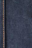 макрос джинсов джинсовой ткани Стоковое фото RF