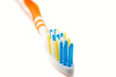 Макрос зубной щетки на белизне Стоковая Фотография RF