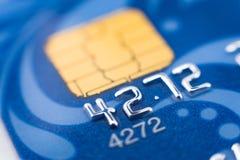 макрос карточки банка Стоковое Фото
