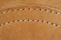 макрос кожи для перчаток бейсбола предпосылки Стоковые Фотографии RF