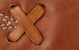макрос кожи для перчаток бейсбола предпосылки Стоковое фото RF