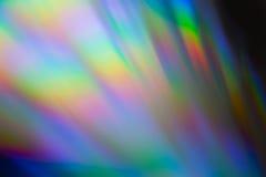 макрос КОМПАКТНОГО ДИСКА яркого блеска Мульти-цвета Стоковая Фотография RF