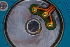 Макрос компьютера жесткого диска Стоковые Фотографии RF