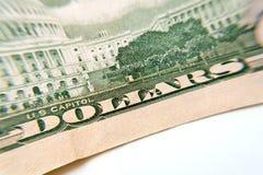 Макрос конца-вверх банкноты доллара Стоковые Фотографии RF