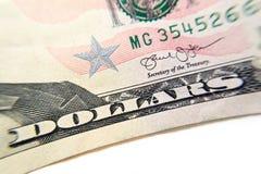 Макрос конца-вверх банкноты доллара Стоковые Изображения RF