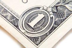 Макрос конца-вверх банкноты доллара Стоковое Фото