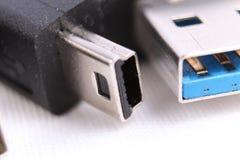 Макрос конца кабеля USB Стоковые Фото