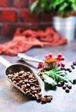макрос кофе завтрака фасолей идеально изолированный над белизной Стоковая Фотография