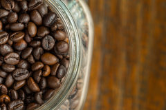 макрос кофе завтрака фасолей идеально изолированный над белизной Стоковые Фотографии RF