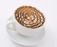 макрос кофе капучино Стоковое Изображение