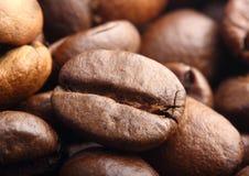 Макрос крайности кофейного зерна Rosted Стоковое фото RF