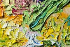Макрос красок масла Стоковые Фотографии RF