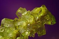 Макрос кристаллов сахара Стоковая Фотография RF