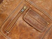 макрос куртки кожаный Стоковые Фотографии RF