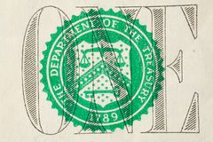 макрос одно изображения доллара счета Стоковое Фото