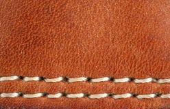 макрос предпосылки кожаный Стоковая Фотография