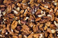 Макрос предпосылки грецкого ореха стоковое фото rf