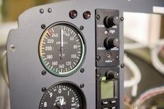 Макрос приборной панели воздушных судн Стоковые Изображения