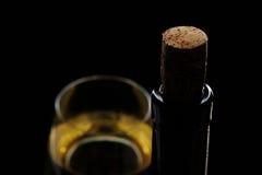 Макрос пробочки и бутылки вина Стоковые Фото