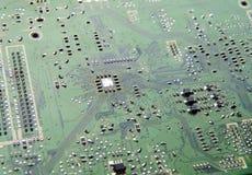 Макрос радиотехнической схемы абстрактный Стоковые Фотографии RF