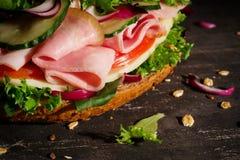 Макрос сандвича Стоковое Изображение