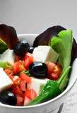 Макрос салата сыра фета стоковая фотография rf