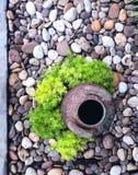 макрос сада сгреб укрепленное песком Дзэн камней 3 Стоковое фото RF