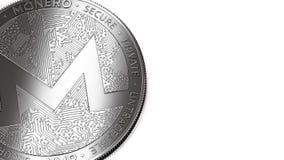Макрос снял монетки Monero и космоса экземпляра бесплатная иллюстрация