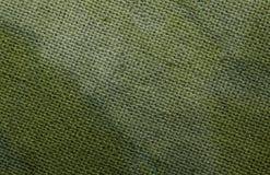 Макрос снятый зеленой ткани хлопка Стоковое Изображение RF