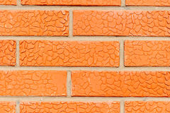 Макрос снятый кирпичной стены для предпосылки стоковое изображение