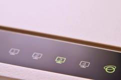 Макрос снятый модема интернета Стоковая Фотография