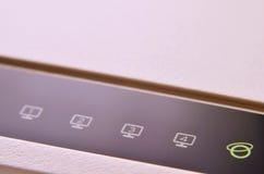 Макрос снятый модема интернета Стоковое Изображение